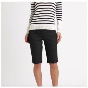 Theory Black Bermuda Shorts